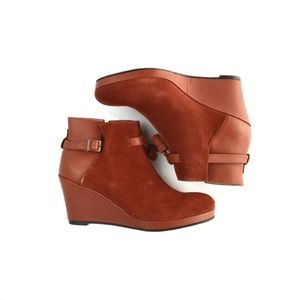 """Wolverine """"Parris"""" Suede Leather Wedge Boots"""